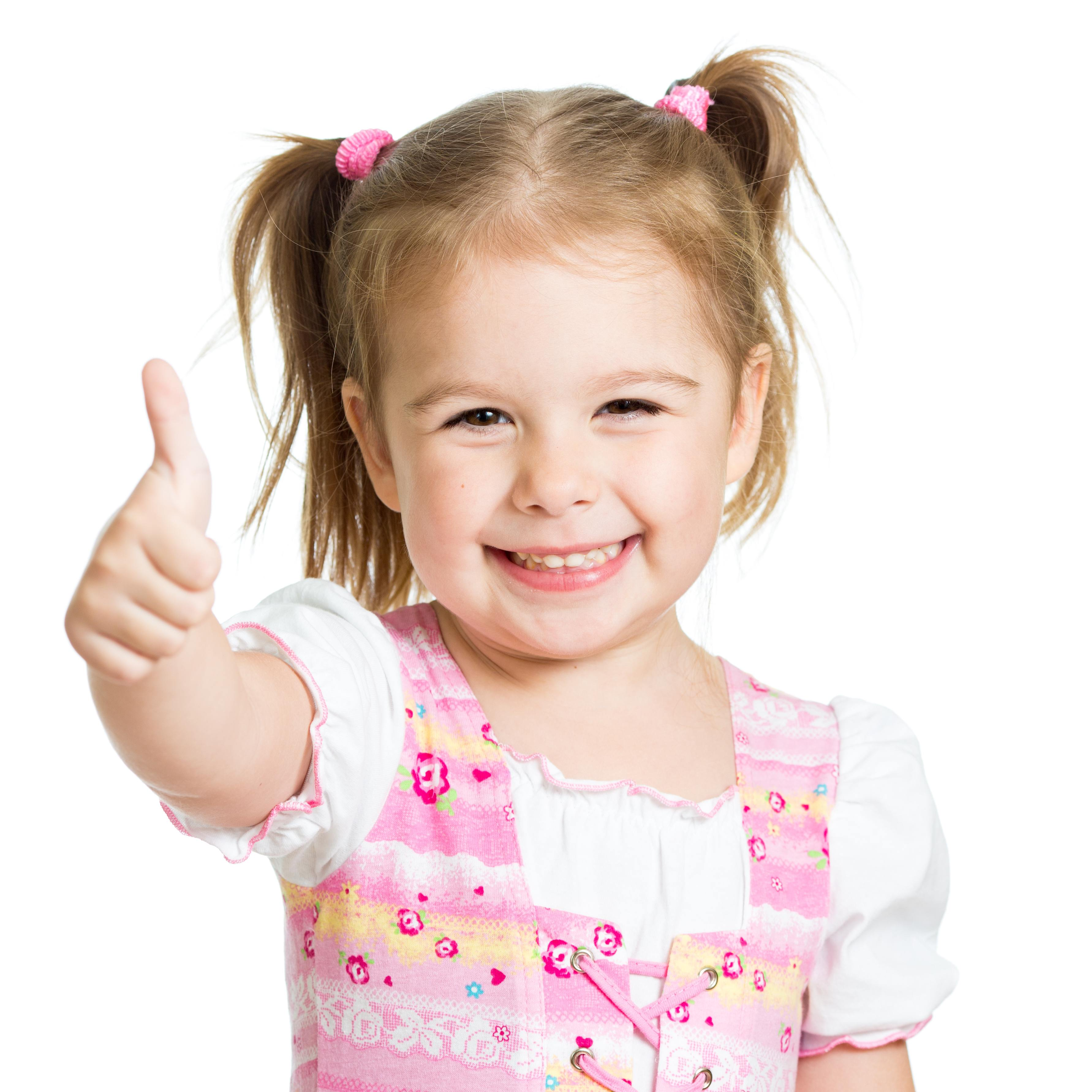 little girl with thumbs up Dental Care Center