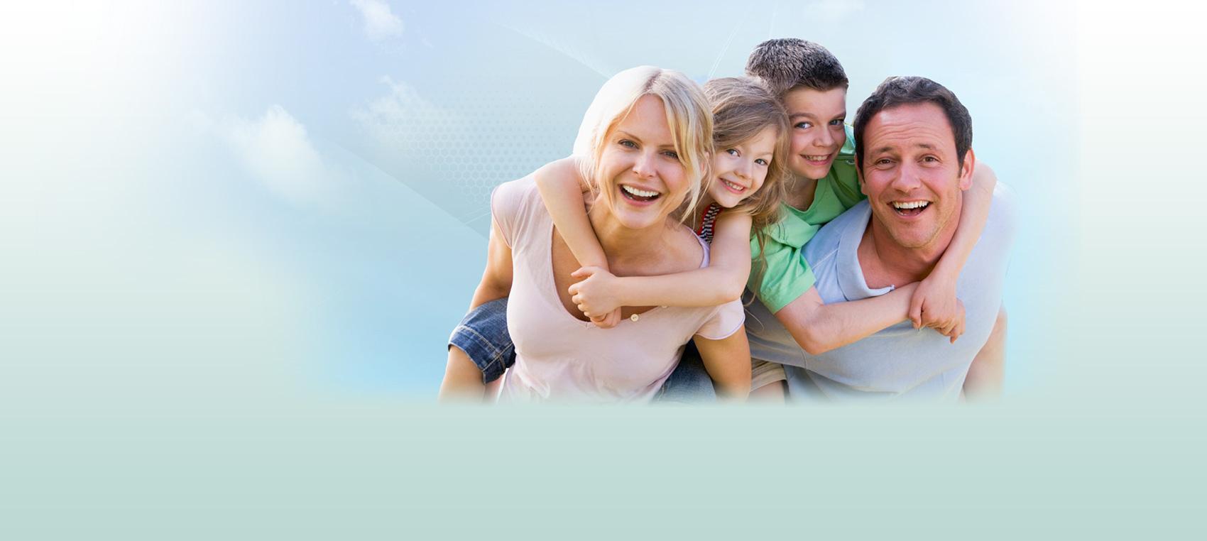 family posing together Dental Care Center