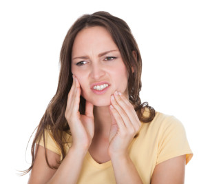 Woman suffering from toothache