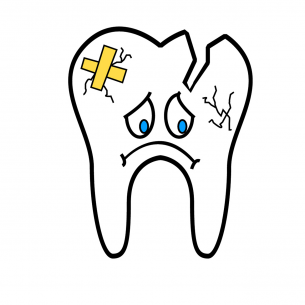 broken tooth cartoon Dental Care Center