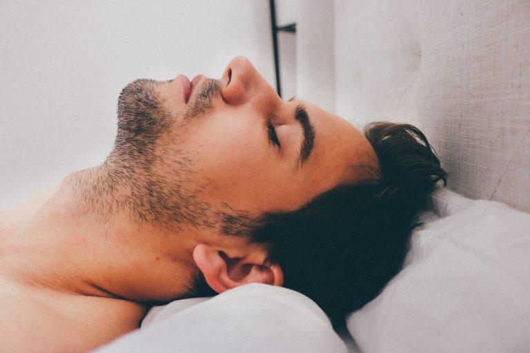 man sleeping Dental Care Center