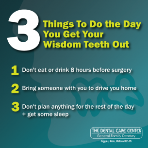 What to Expect When Getting Your Wisdom Teeth Out   The Dental Care Center